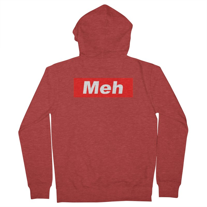 Meh Men's Zip-Up Hoody by doombxny's Artist Shop