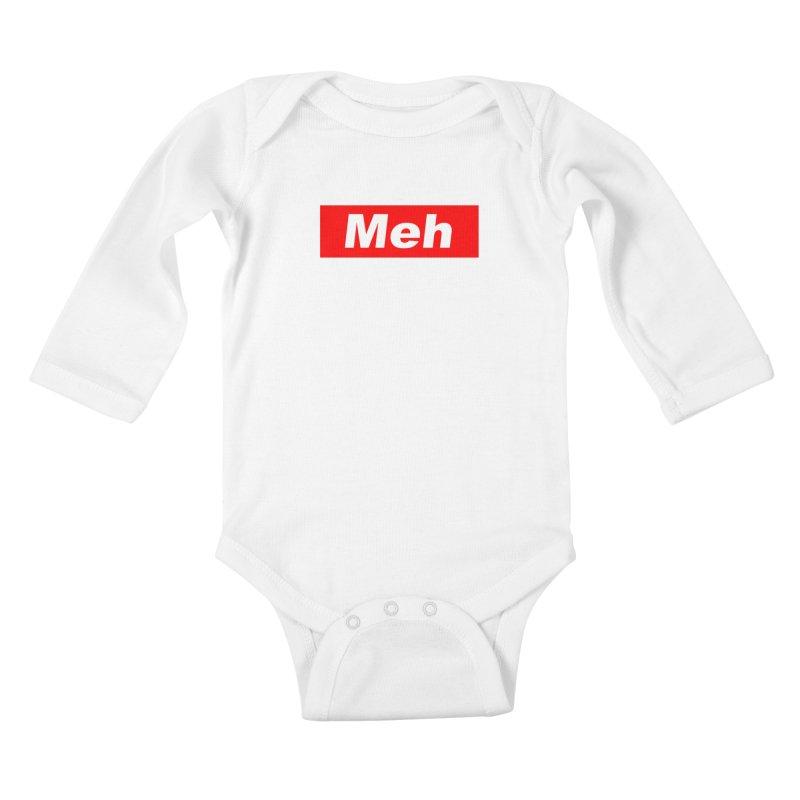 Meh Kids Baby Longsleeve Bodysuit by doombxny's Artist Shop