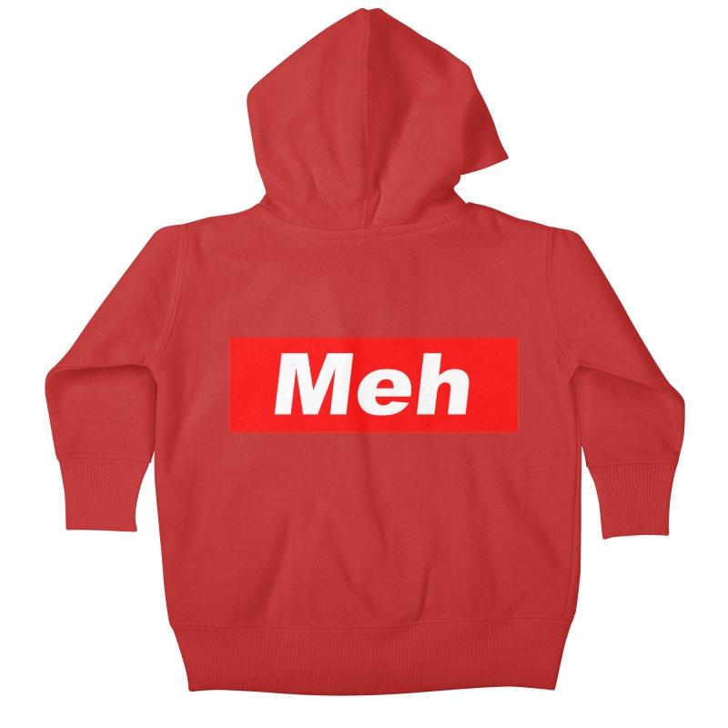 Meh Kids Baby Zip-Up Hoody by doombxny's Artist Shop