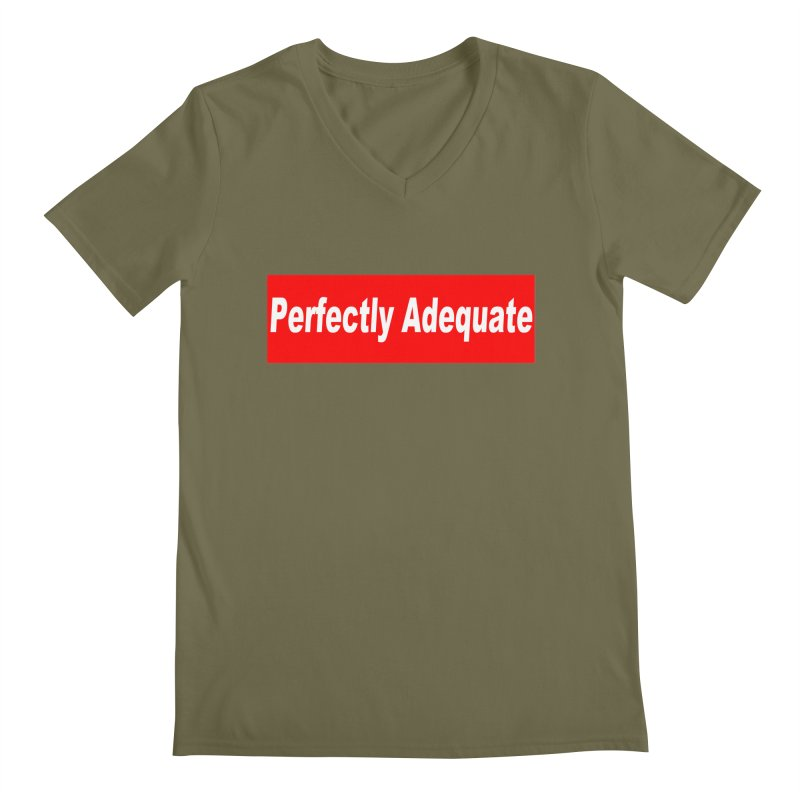 Perfectly Adequate Men's Regular V-Neck by doombxny's Artist Shop
