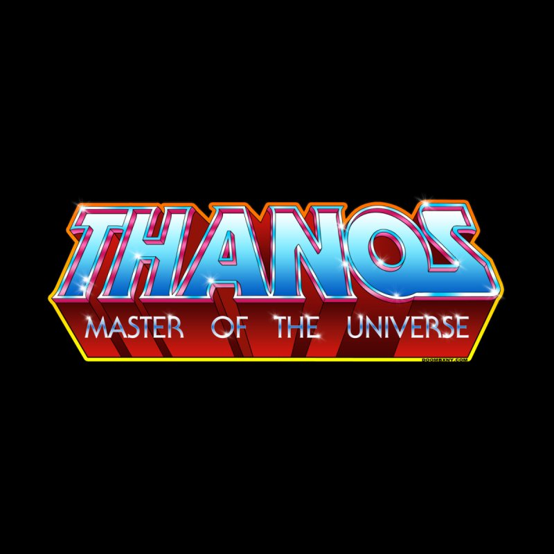 Thanos MOTU logo Home Mounted Aluminum Print by doombxny's Artist Shop