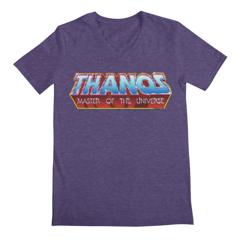 Thanos MOTU logo Men's V-Neck by doombxny's Artist Shop