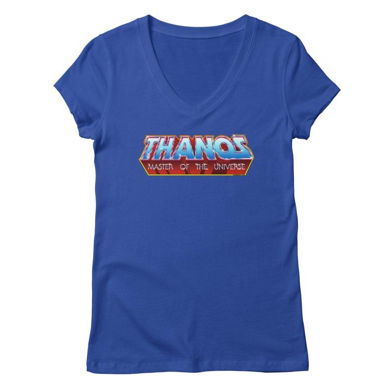 Thanos MOTU logo Women's Regular V-Neck by doombxny's Artist Shop