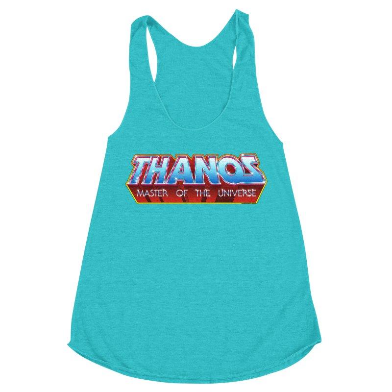Thanos MOTU logo Women's Racerback Triblend Tank by doombxny's Artist Shop