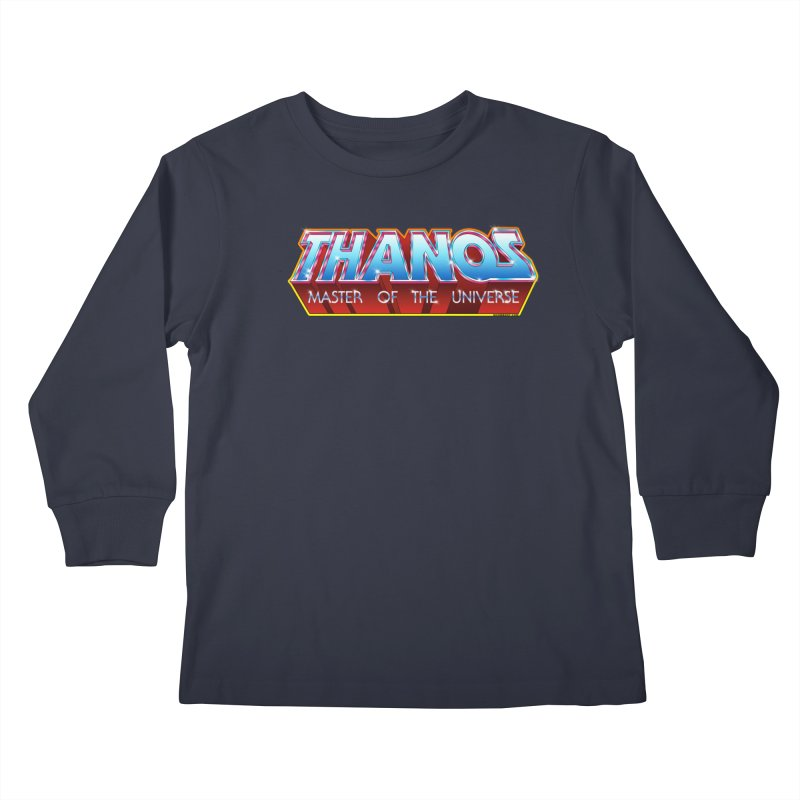 Thanos MOTU logo Kids Longsleeve T-Shirt by doombxny's Artist Shop