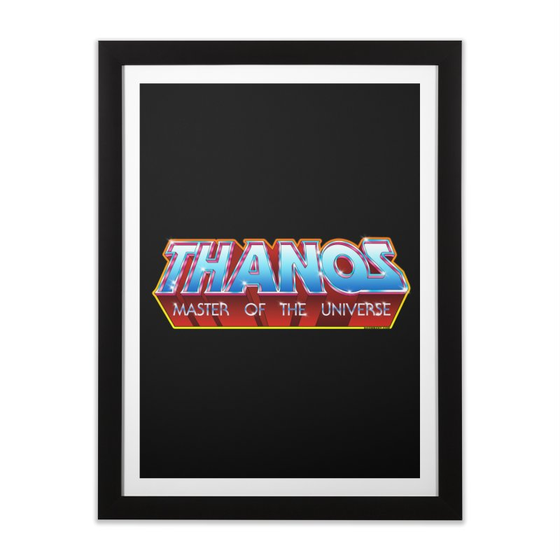 Thanos MOTU logo Home Framed Fine Art Print by doombxny's Artist Shop