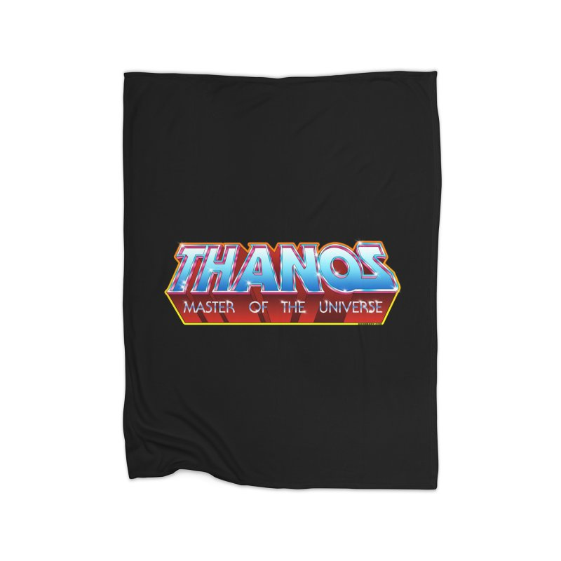 Thanos MOTU logo Home Fleece Blanket Blanket by doombxny's Artist Shop