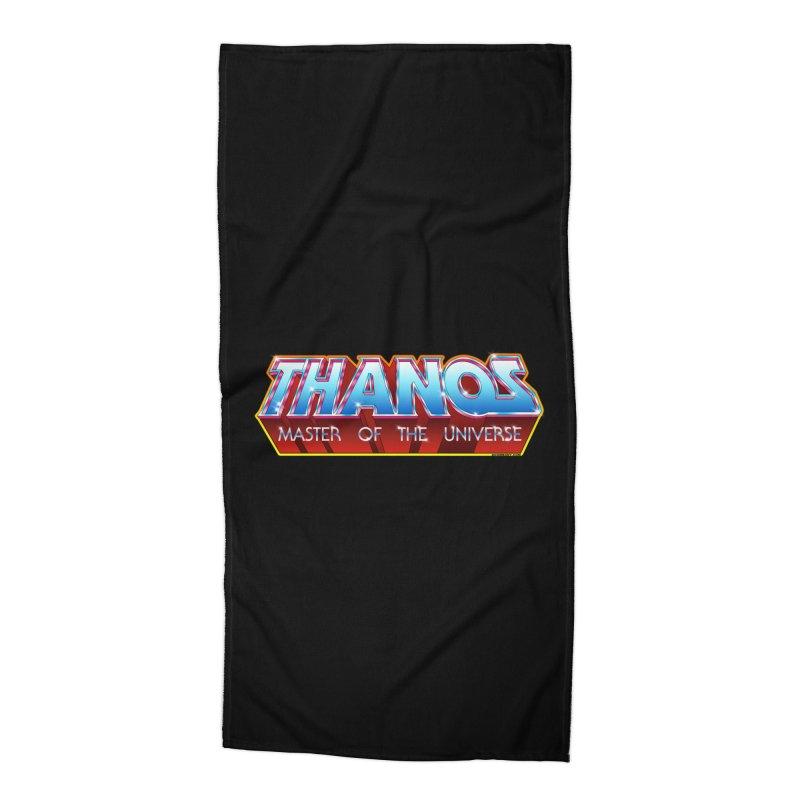 Thanos MOTU logo Accessories Beach Towel by doombxny's Artist Shop