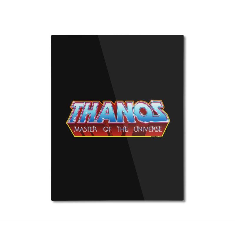 Thanos MOTU logo Home Mounted Aluminum Print by doombxny's Artist Shop
