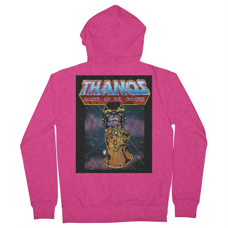 Thanos master of the universe Women's French Terry Zip-Up Hoody by doombxny's Artist Shop
