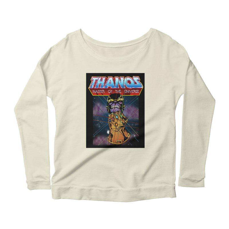 Thanos master of the universe Women's Scoop Neck Longsleeve T-Shirt by doombxny's Artist Shop