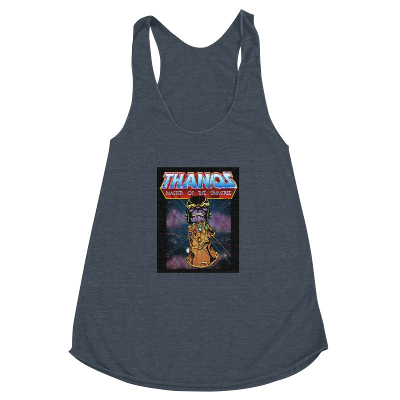 Thanos master of the universe Women's Racerback Triblend Tank by doombxny's Artist Shop