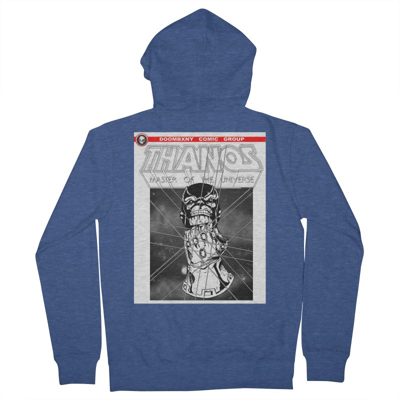 Thanos Master Of The Universe B&W Women's French Terry Zip-Up Hoody by doombxny's Artist Shop