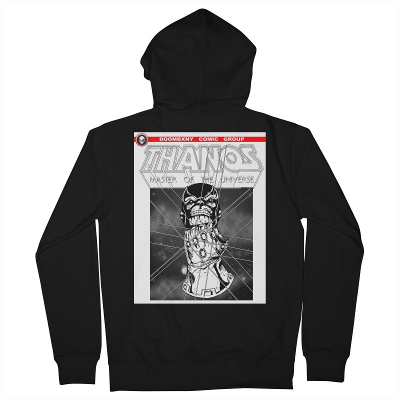 Thanos Master Of The Universe B&W Men's Zip-Up Hoody by doombxny's Artist Shop