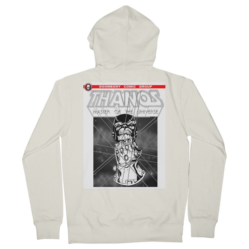 Thanos Master Of The Universe B&W Men's French Terry Zip-Up Hoody by doombxny's Artist Shop
