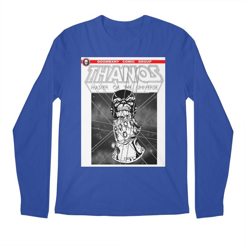Thanos Master Of The Universe B&W Men's Regular Longsleeve T-Shirt by doombxny's Artist Shop