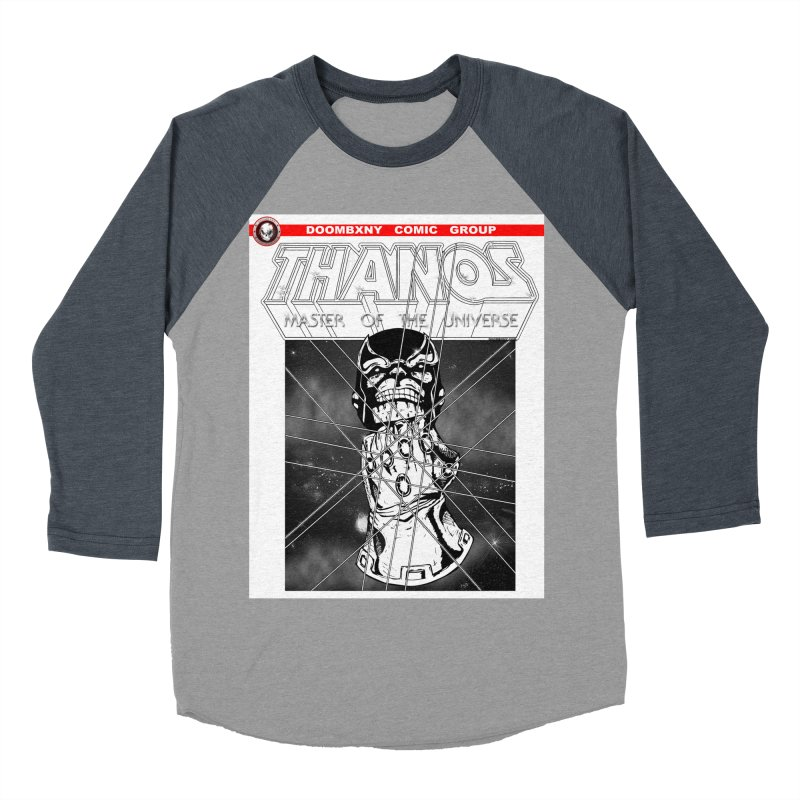 Thanos Master Of The Universe B&W Women's Baseball Triblend Longsleeve T-Shirt by doombxny's Artist Shop