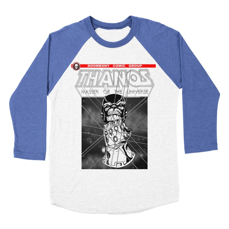 Thanos Master Of The Universe B&W Men's Baseball Triblend Longsleeve T-Shirt by doombxny's Artist Shop