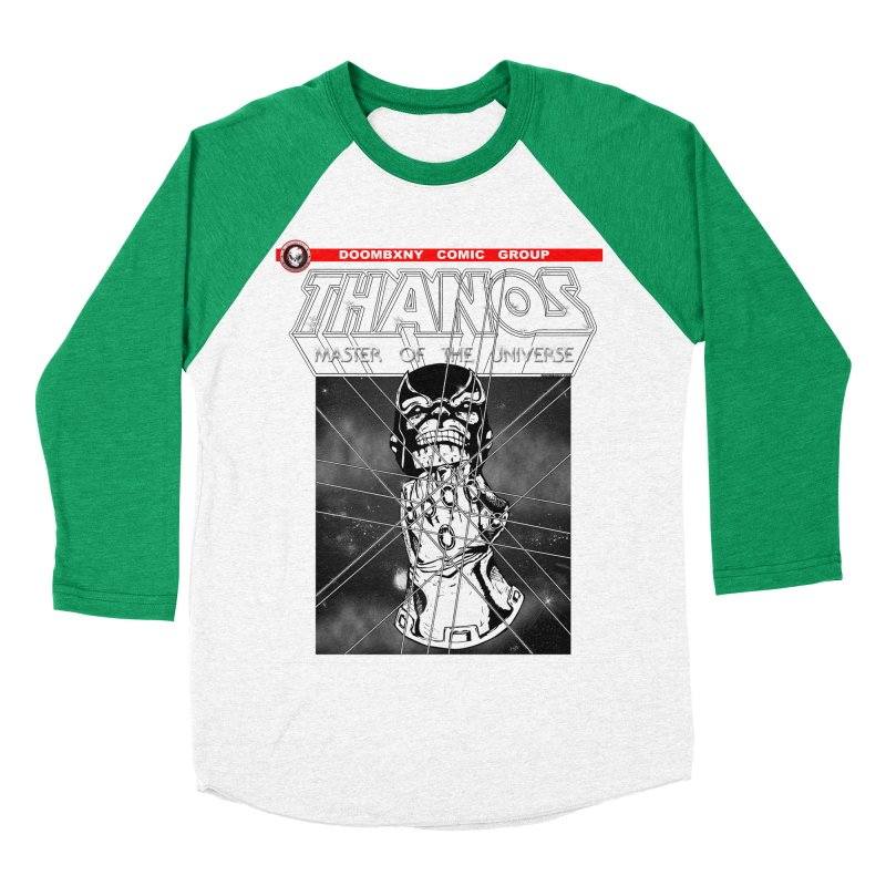 Thanos Master Of The Universe B&W Men's Baseball Triblend Longsleeve T-Shirt by doombxny's Artist Shop