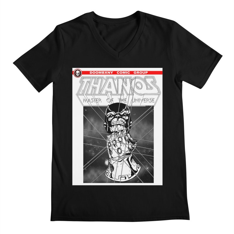 Thanos Master Of The Universe B&W Men's V-Neck by doombxny's Artist Shop
