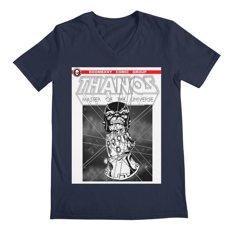 Thanos Master Of The Universe B&W Men's Regular V-Neck by doombxny's Artist Shop