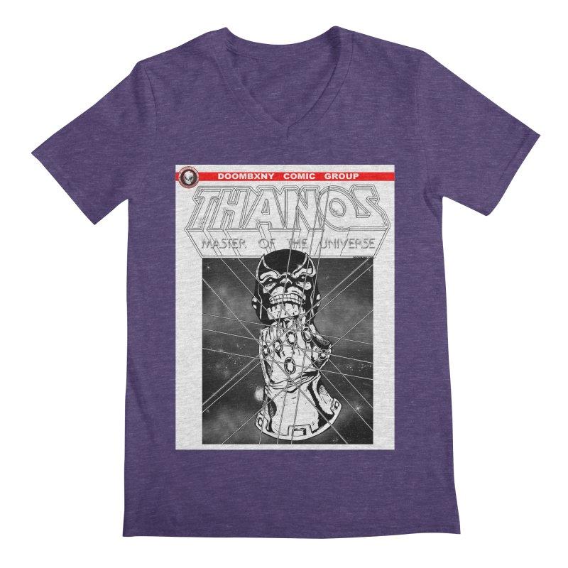 Thanos Master Of The Universe B&W Men's V-Neck by doombxny's Artist Shop