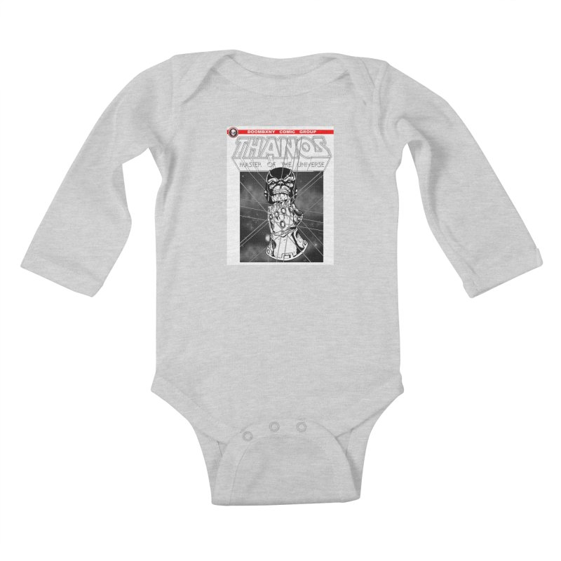 Thanos Master Of The Universe B&W Kids Baby Longsleeve Bodysuit by doombxny's Artist Shop