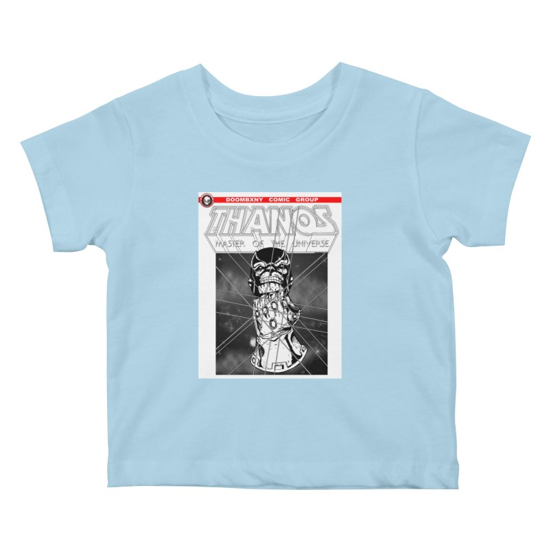 Thanos Master Of The Universe B&W Kids Baby T-Shirt by doombxny's Artist Shop
