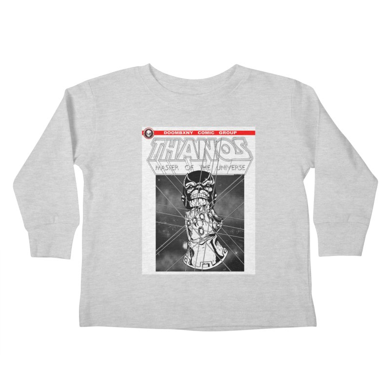 Thanos Master Of The Universe B&W Kids Toddler Longsleeve T-Shirt by doombxny's Artist Shop