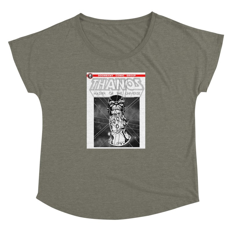 Thanos Master Of The Universe B&W Women's Dolman Scoop Neck by doombxny's Artist Shop