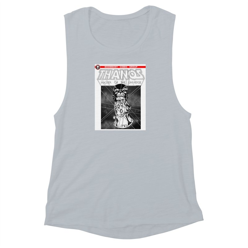 Thanos Master Of The Universe B&W Women's Muscle Tank by doombxny's Artist Shop