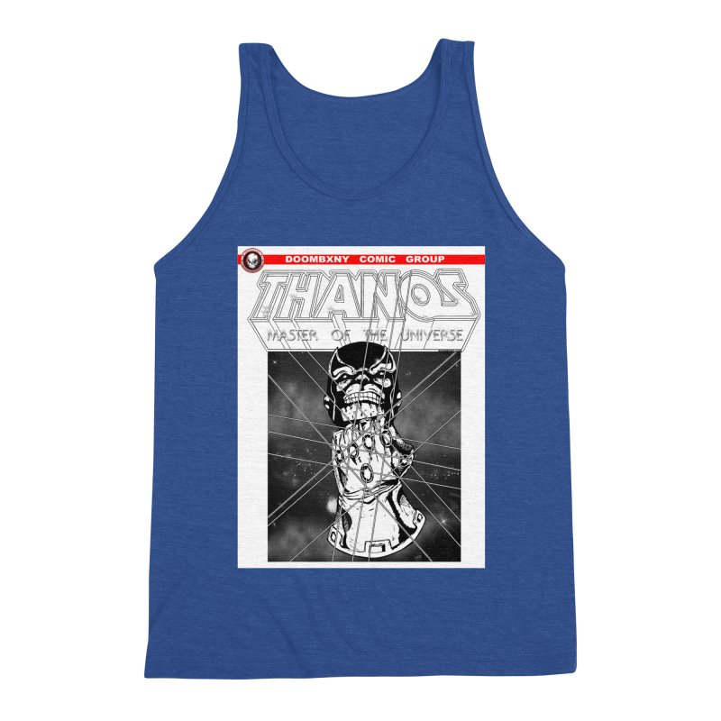 Thanos Master Of The Universe B&W Men's Triblend Tank by doombxny's Artist Shop