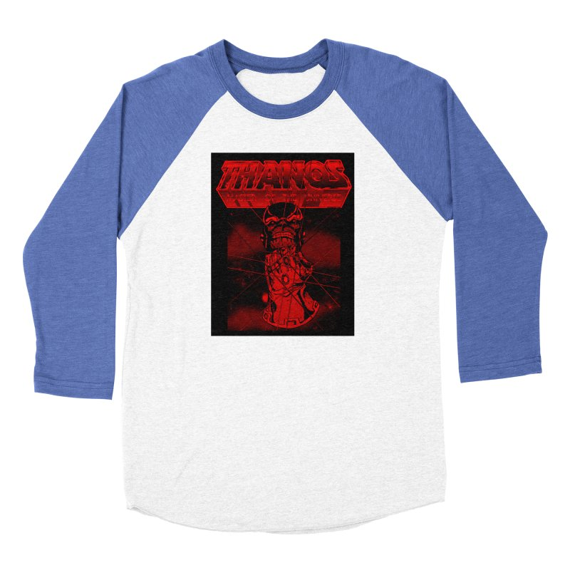 Thanos Master Of The Universe blood red version Women's Baseball Triblend Longsleeve T-Shirt by doombxny's Artist Shop
