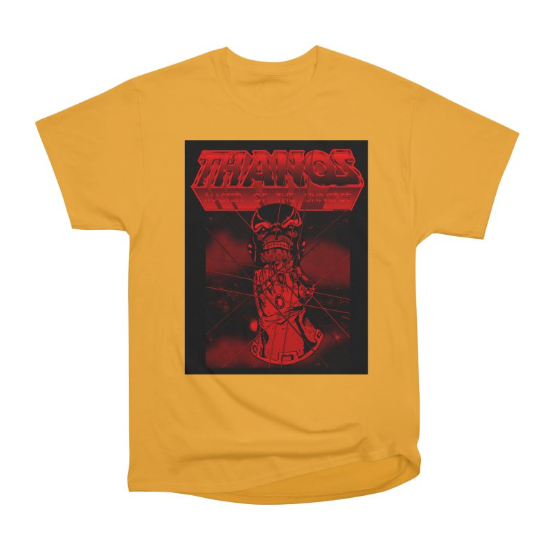 Thanos Master Of The Universe blood red version Men's Heavyweight T-Shirt by doombxny's Artist Shop