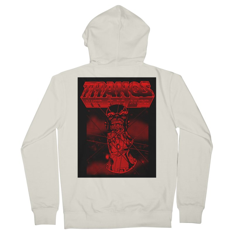 Thanos Master Of The Universe blood red version Women's French Terry Zip-Up Hoody by doombxny's Artist Shop