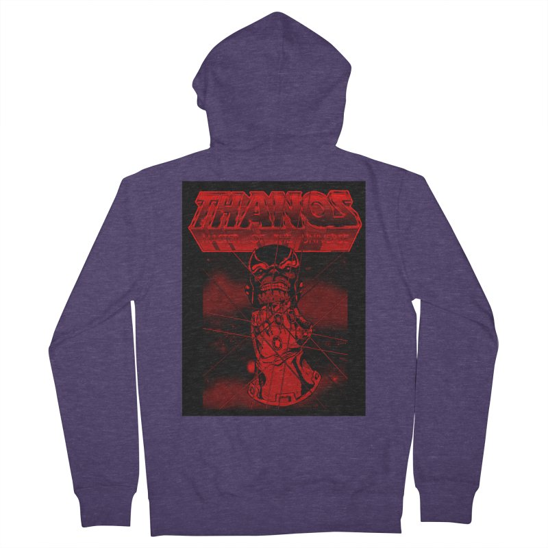 Thanos Master Of The Universe blood red version Men's Zip-Up Hoody by doombxny's Artist Shop