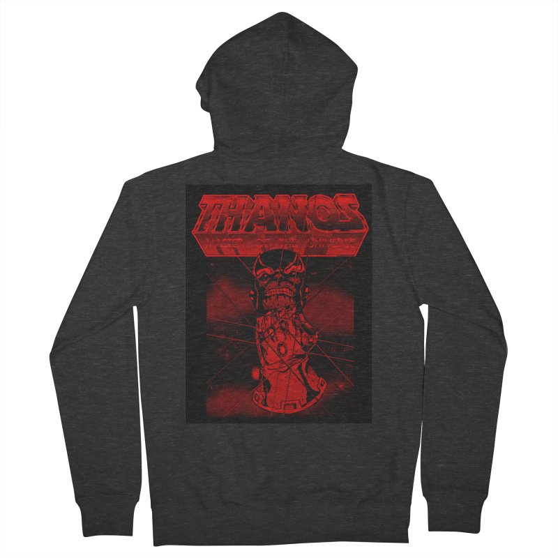 Thanos Master Of The Universe blood red version Men's French Terry Zip-Up Hoody by doombxny's Artist Shop