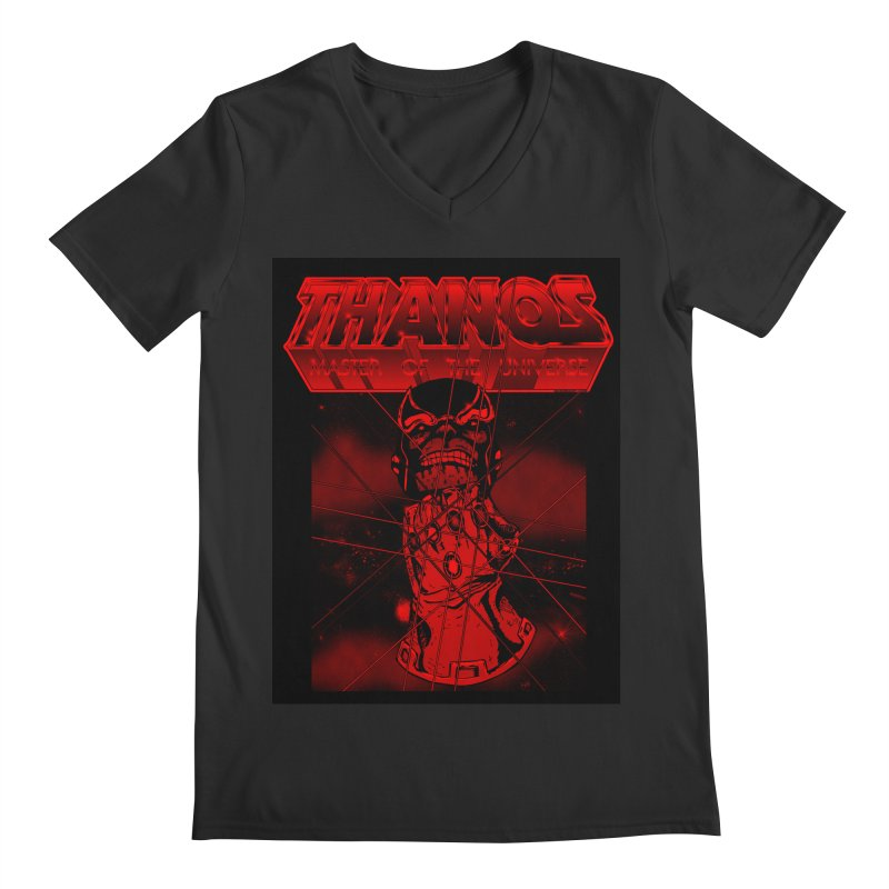 Thanos Master Of The Universe blood red version Men's V-Neck by doombxny's Artist Shop