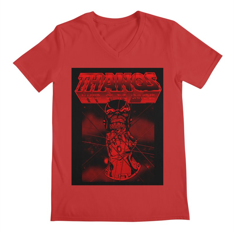 Thanos Master Of The Universe blood red version Men's Regular V-Neck by doombxny's Artist Shop