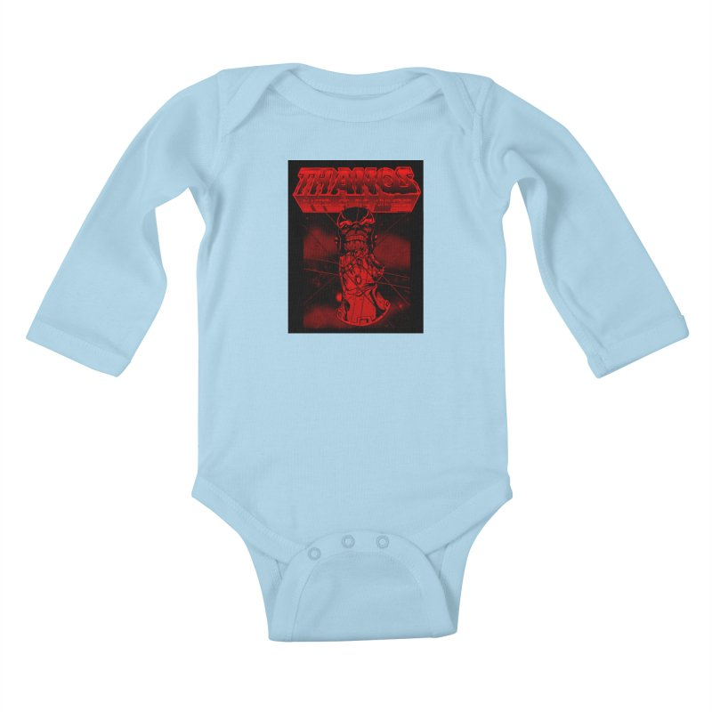 Thanos Master Of The Universe blood red version Kids Baby Longsleeve Bodysuit by doombxny's Artist Shop