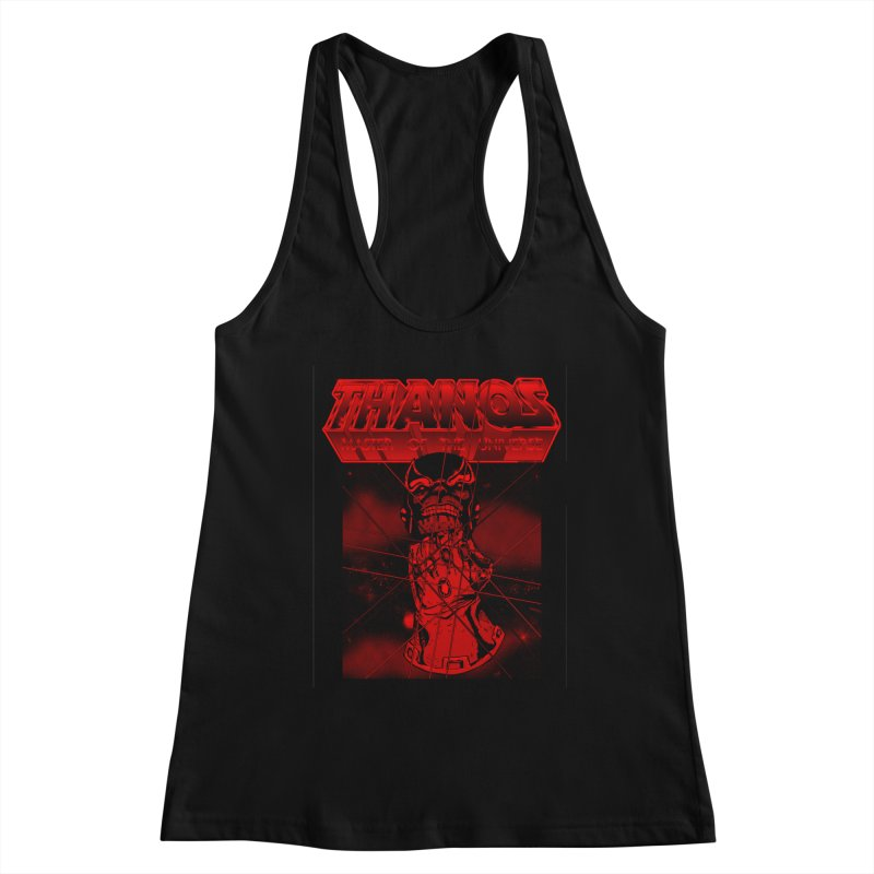 Thanos Master Of The Universe blood red version Women's Racerback Tank by doombxny's Artist Shop