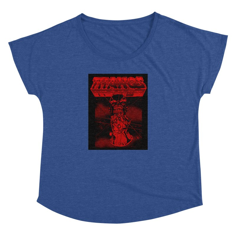 Thanos Master Of The Universe blood red version Women's Dolman Scoop Neck by doombxny's Artist Shop