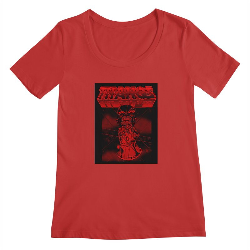 Thanos Master Of The Universe blood red version Women's Regular Scoop Neck by doombxny's Artist Shop