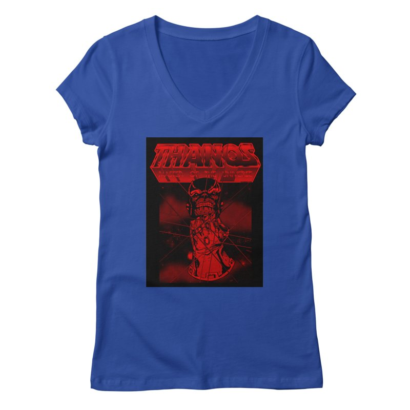 Thanos Master Of The Universe blood red version Women's Regular V-Neck by doombxny's Artist Shop