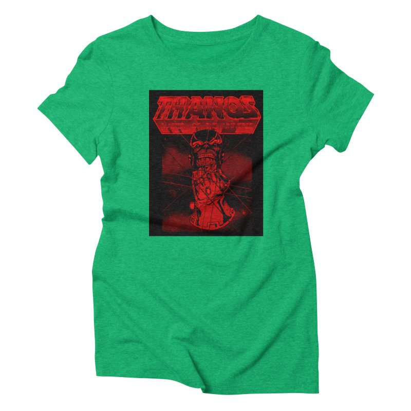 Thanos Master Of The Universe blood red version Women's Triblend T-Shirt by doombxny's Artist Shop