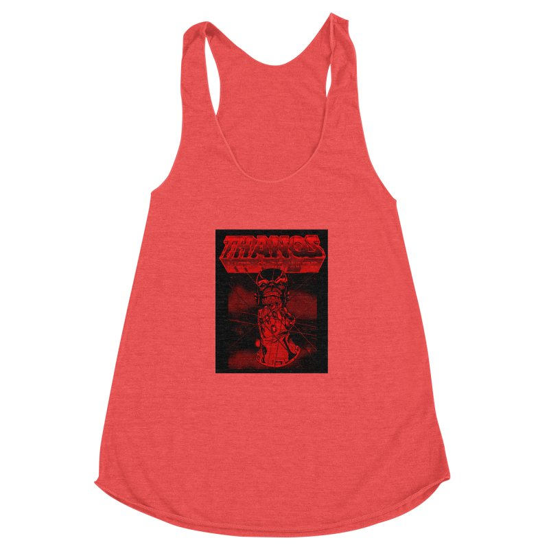 Thanos Master Of The Universe blood red version Women's Racerback Triblend Tank by doombxny's Artist Shop