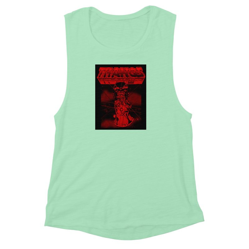 Thanos Master Of The Universe blood red version Women's Muscle Tank by doombxny's Artist Shop