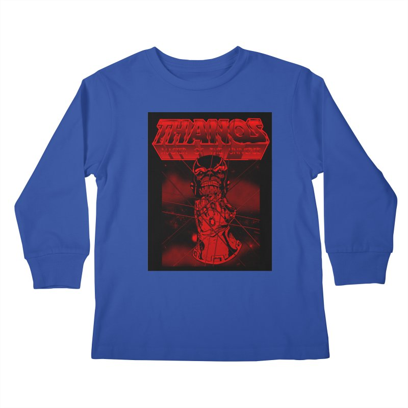 Thanos Master Of The Universe blood red version Kids Longsleeve T-Shirt by doombxny's Artist Shop