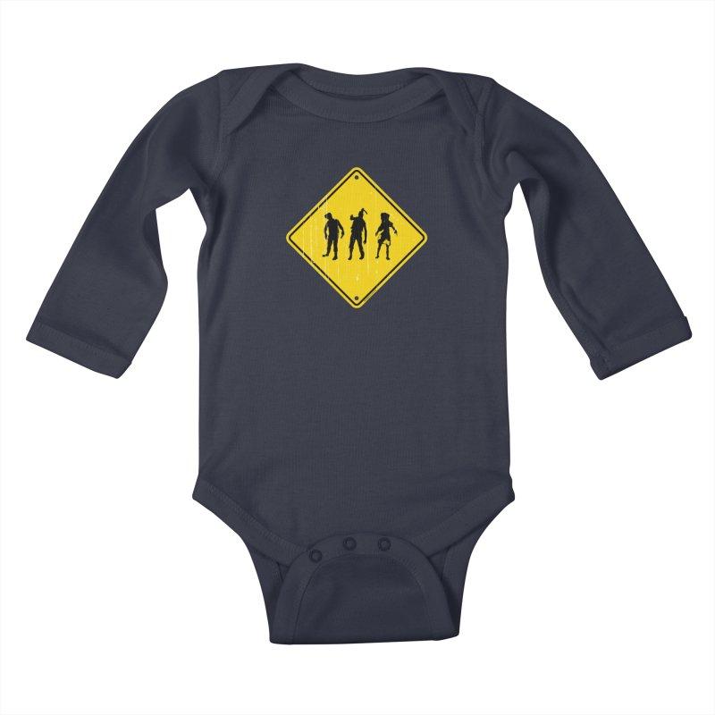 Zombie X-ing Kids Baby Longsleeve Bodysuit by doombxny's Artist Shop