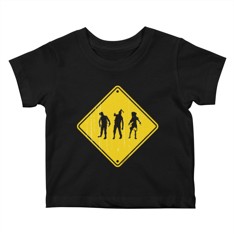 Zombie X-ing Kids Baby T-Shirt by doombxny's Artist Shop